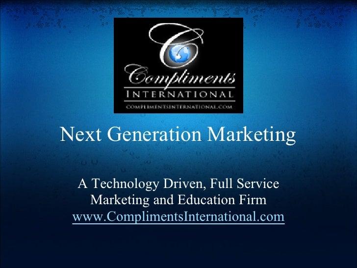 Compliments International Next Generation Mark