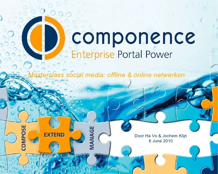 Componence masterclass Netwerken - Online is Offline SME360