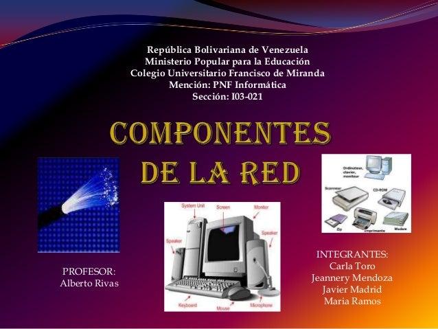 República Bolivariana de Venezuela                   Ministerio Popular para la Educación                Colegio Universit...