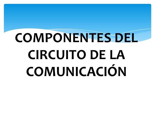 Circuito De La Comunicacion : Componentes del circuito de la comunicación