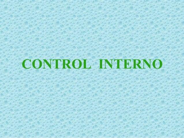 COMPONENTES DEL CONTROL INTERNO