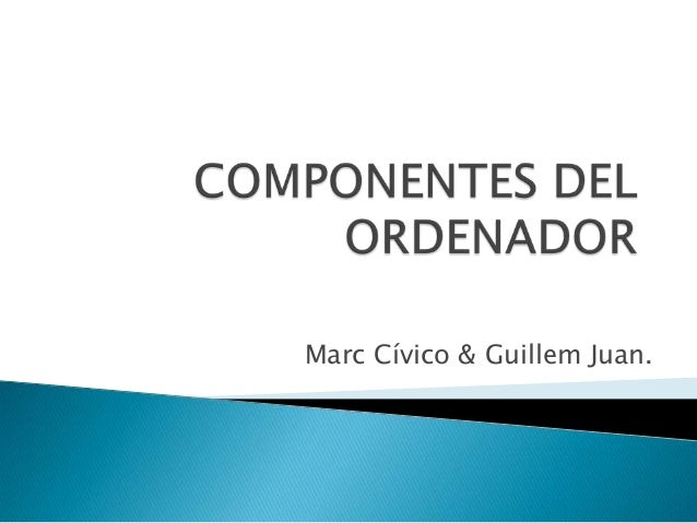 Marc Cívico & Guillem Juan.