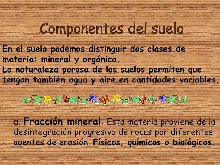 Componentes del suelo for Componentes quimicos del suelo