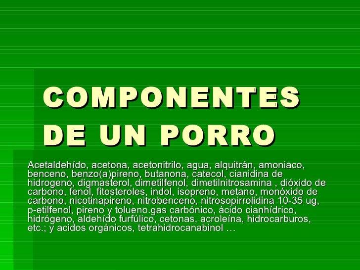 Componentes De Un Porro