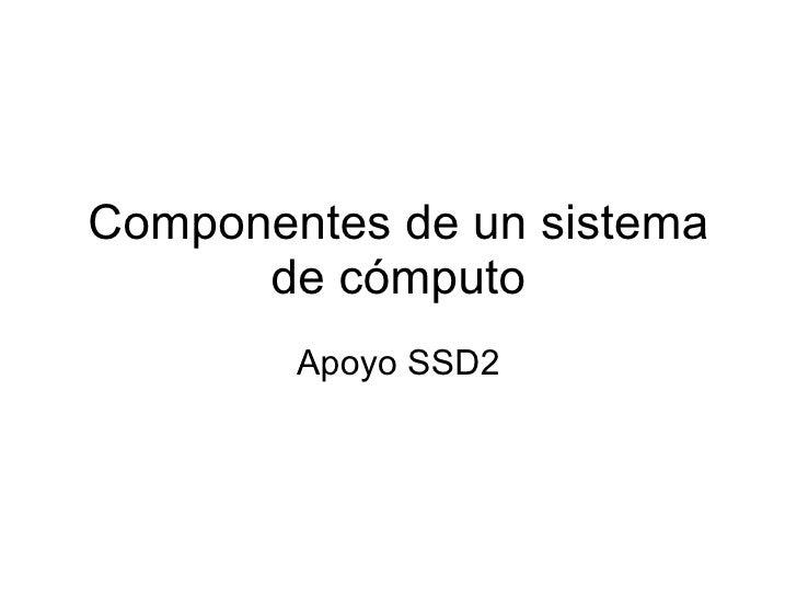 Componentes De Un Sistema De Computo - photo#9