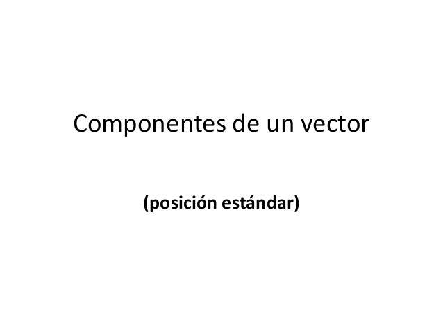 Componentes de un vector (posición estándar)
