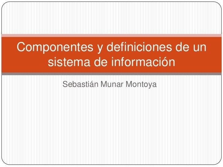 Componentes y definiciones de un sistema de información