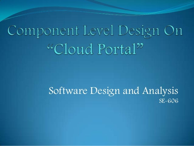 Software Design and Analysis SE-606