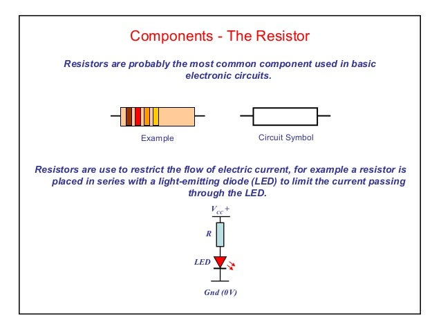 Components - The Resistor Resistors are probably the most common component used in basic electronic circuits. Resistors ar...