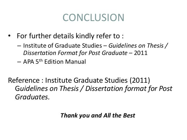 thesis guidelines 2 guidelines for thesis/dissertation/project preparation the graduate school the university of maine november 2016 the policies, format and style requirements in this manual reflect the university of maine's.