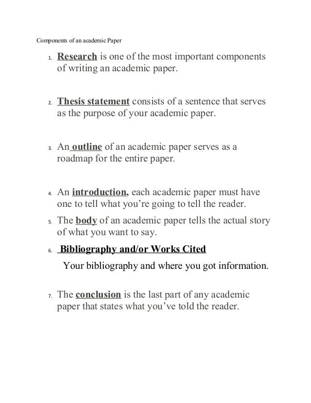 Research paper components