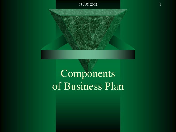 Essential parts of a business plan