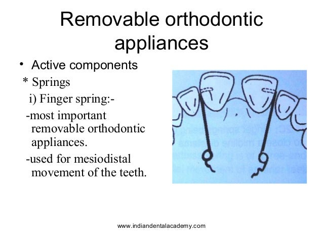 Components of removable appliances 2 /certified fixed orthodontic courses by Indian dental academy