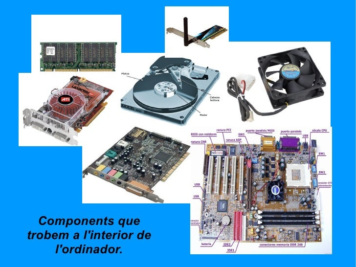Components que trobem a l'interior de l'ordinador.