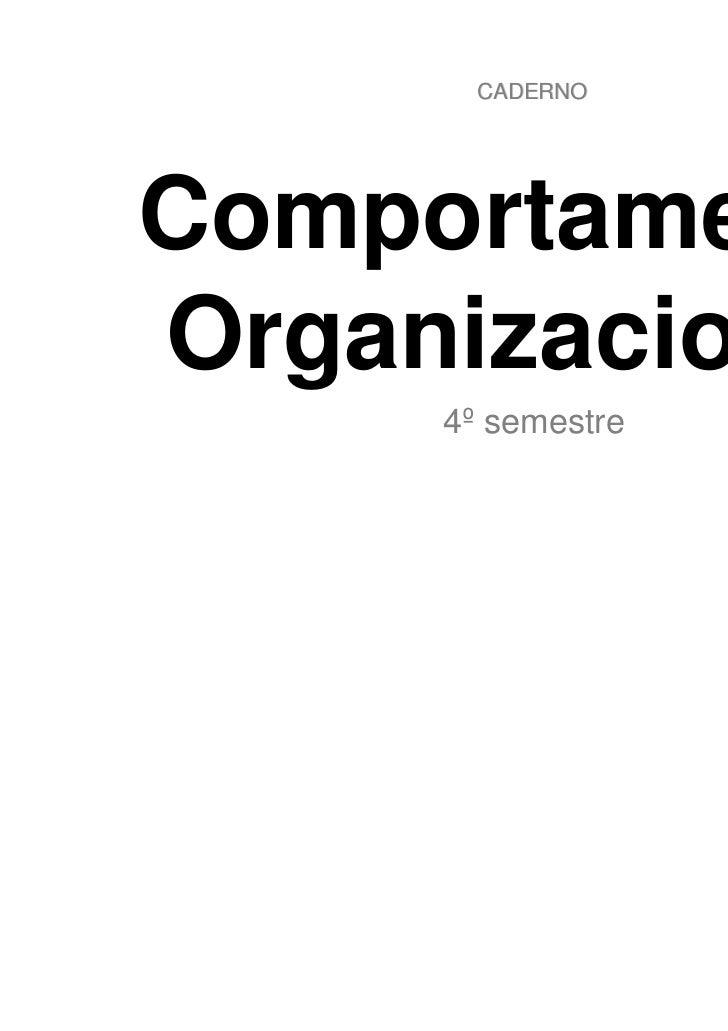 CADERNOComportamentoOrganizacional     4º semestre                   Luan Guerra