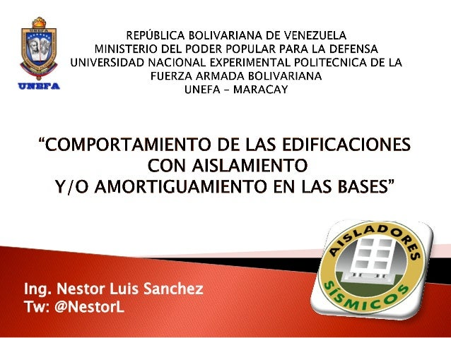 Ing. Nestor Luis SanchezTw: @NestorL