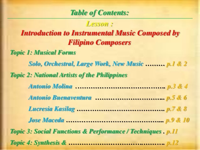 Who are the 5 famous Filipinos composer - answers.com