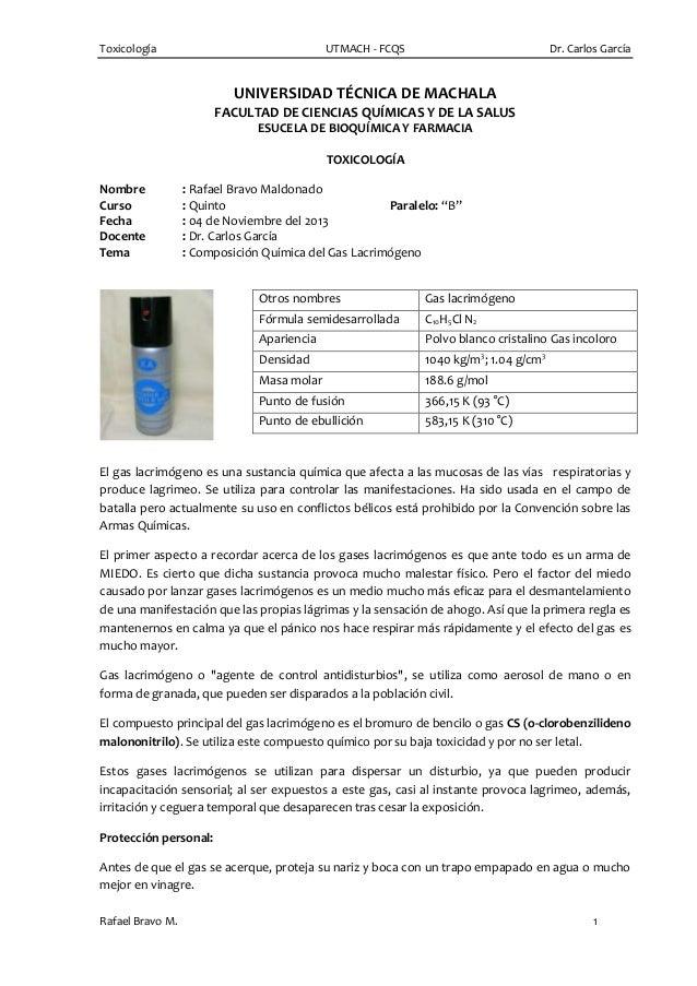Toxicología  UTMACH - FCQS  Dr. Carlos García  UNIVERSIDAD TÉCNICA DE MACHALA FACULTAD DE CIENCIAS QUÍMICAS Y DE LA SALUS ...