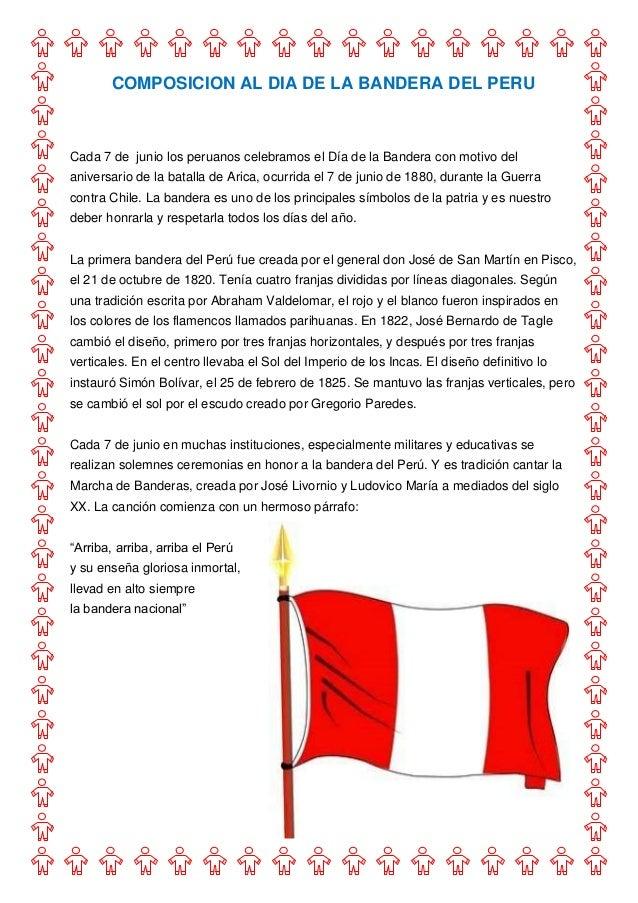 COMPOSICION AL DIA DE LA BANDERA DEL PERUCada 7 de junio los peruanos