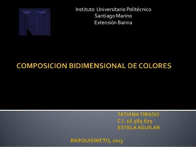 Instituto Universitario Politécnico Santiago Marino Extensión Barina