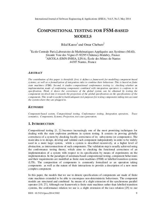 Compositional testing for fsm based models