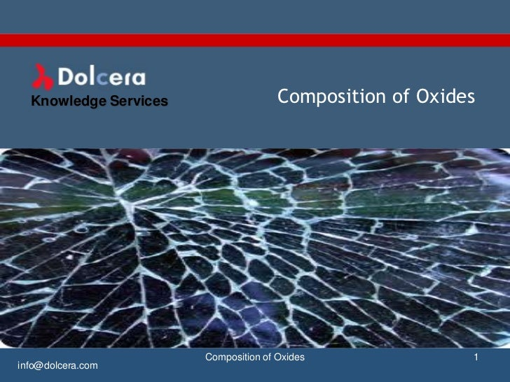 Composition of oxides   patent and technology report - key players, innovators and industry analysis
