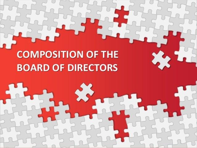 composition of the board of directors. Black Bedroom Furniture Sets. Home Design Ideas