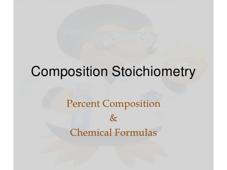 Composition stoichiometry