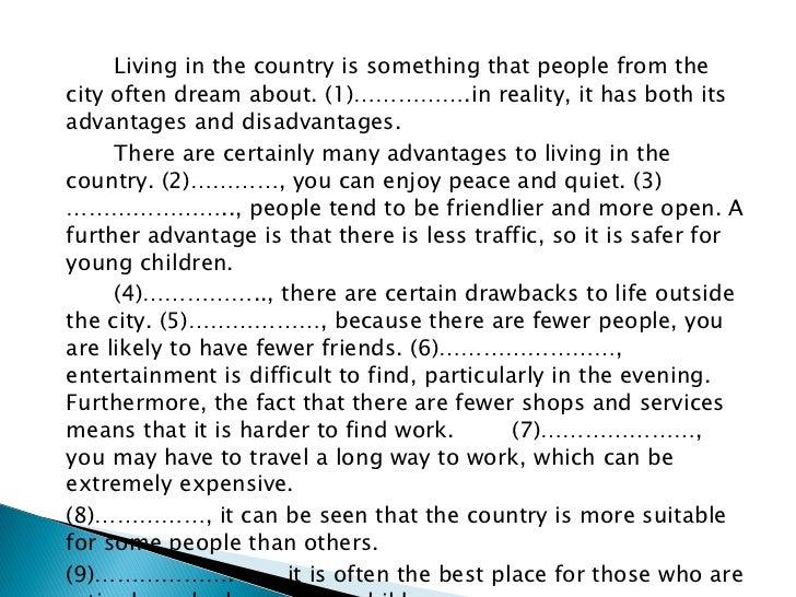 advantages of city life essay