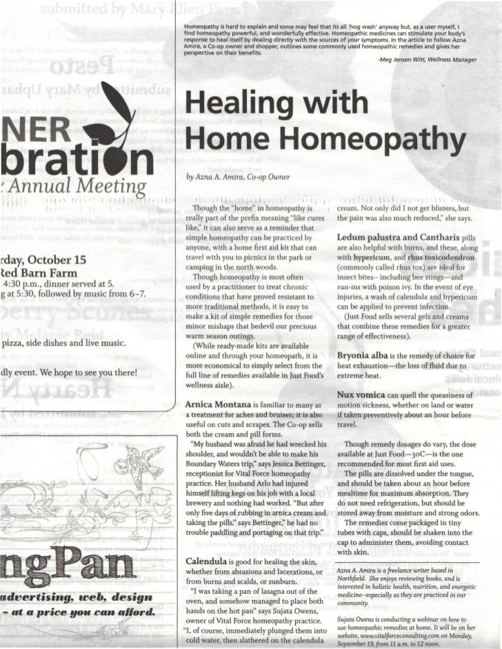 Homeopathy is hard to explain and some may feel that its all hog wash anyway but, as a user myself, I                     ...