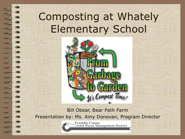 Composting at Whately Elementary School Bill Obear, Bear Path Farm Presentation by: Ms. Amy Donovan, Program Director