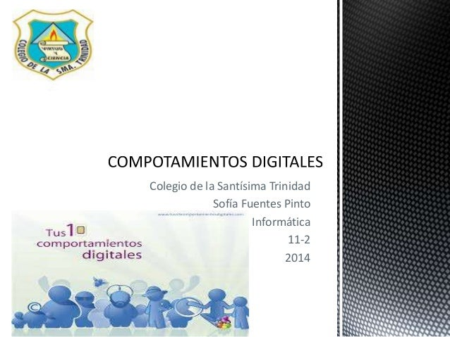 Colegio de la Santísima Trinidad Sofía Fuentes Pinto Informática 11-2 2014