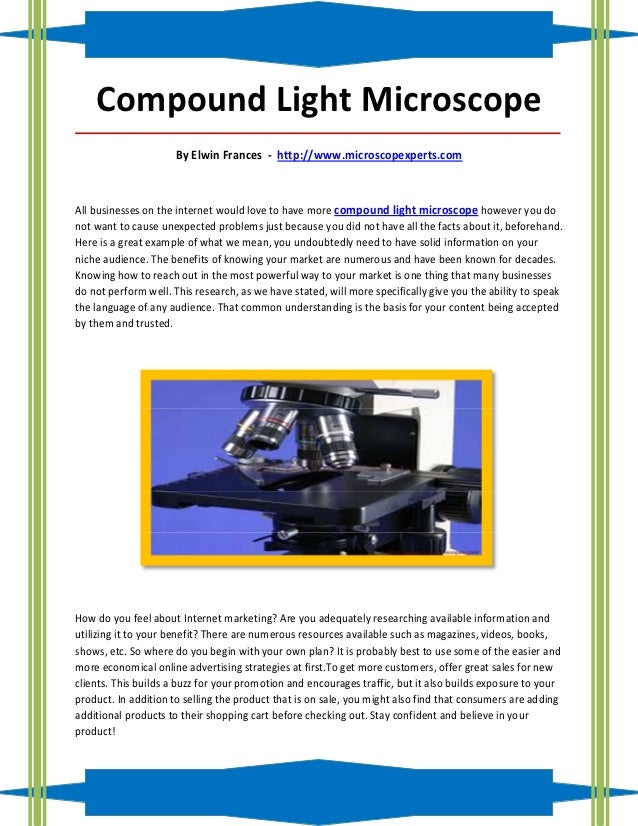 Compound Light Microscope_____________________________________________________________________________________            ...