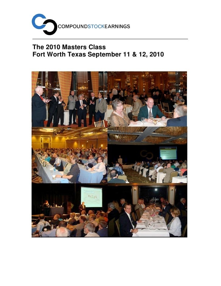 Compound Stock Earnings 2010 Masters Class