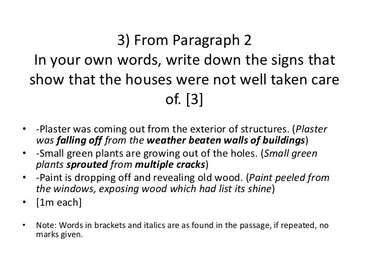 Paragraph corrections