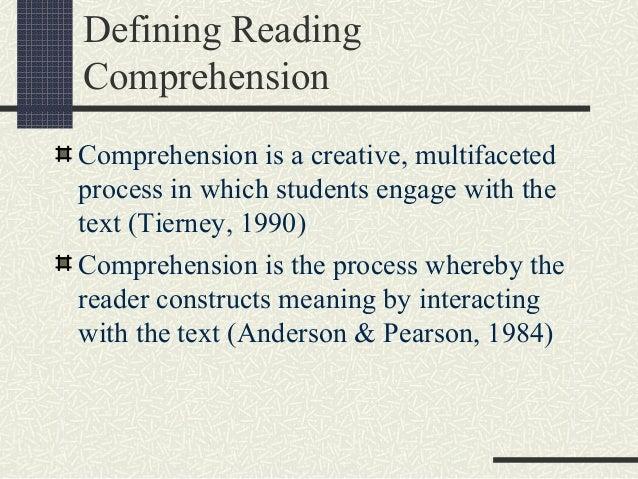 Creative comprehension