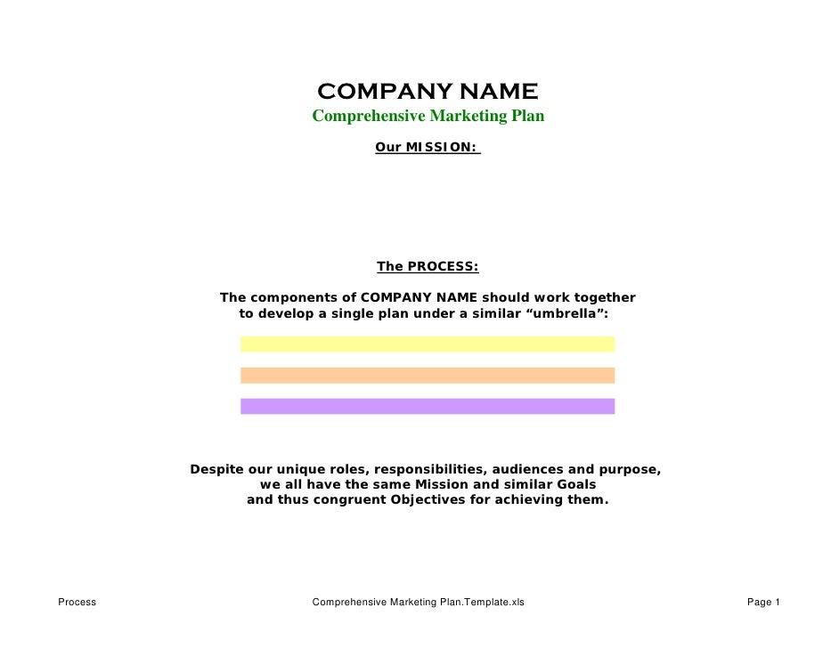 Comprehensive Marketing Plan-Process