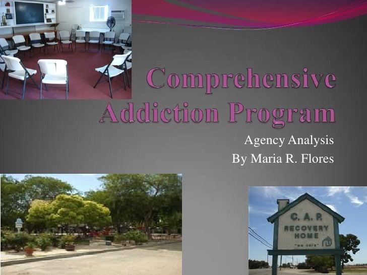 Comprehensive addiction pogram agency analysis