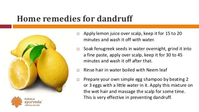 How To Get Rid Of Dandruff Naturally With Lemon