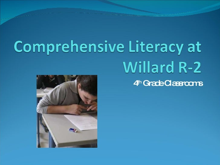 Comprehensive Literacy At Willard R 2