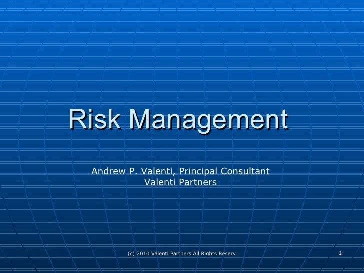Comprehensive Overview Of Risk Management