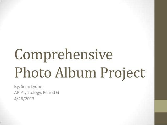 Sean Lydon Comprehensive photo album project