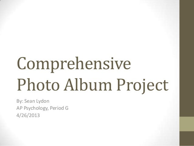 Sean Lydon Comprehensive photo album project