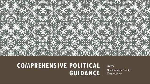 COMPREHENSIVE POLITICAL   NATO                          North Atlantic Treaty              GUIDANCE    Organization