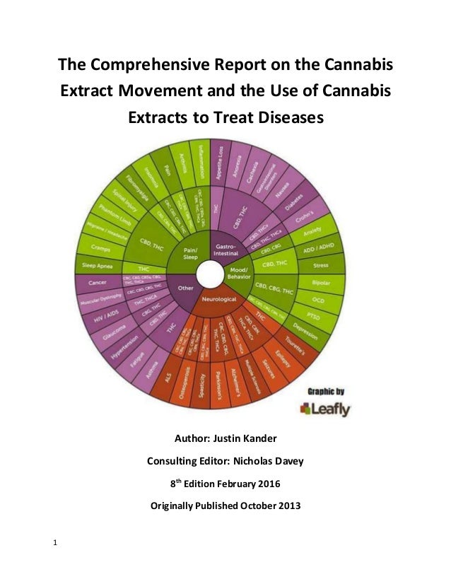 1 The Comprehensive Report on the Cannabis Extract Movement and the Use of Cannabis Extracts to Treat Diseases Author: Jus...