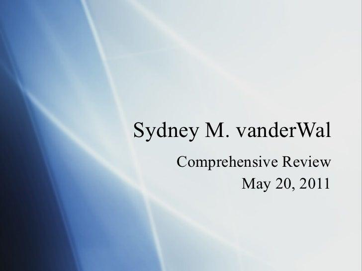 Comprehensive review ph d