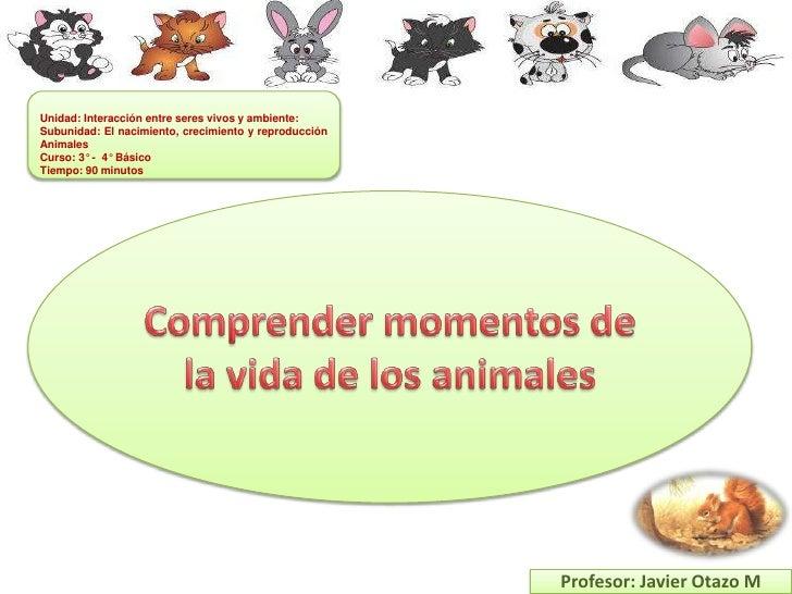 Unidad: Interacción entre seres vivos y ambiente:Subunidad: El nacimiento, crecimiento y reproducciónAnimalesCurso: 3° - 4...