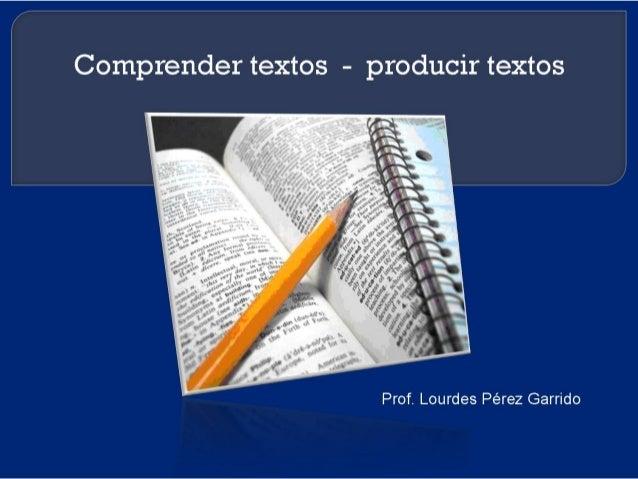 Instituto de Formación en Servicio - Área Lengua - 2015 Coord. Mtra y Prof. Lourdes Pérez Garrido