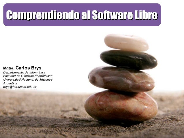 Comprendiendo al Software Libre