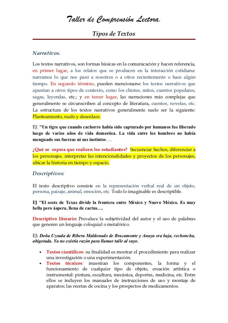 Comprensión lectora. Nancy Gutiérrez